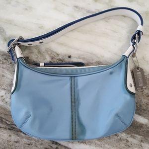 Coach Blue Nylon Soho Shoulder Bag